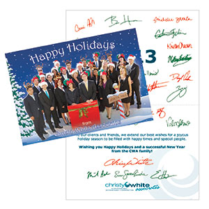 Christ White Associates Custom Designed Holiday Card